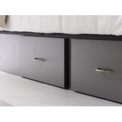Socle 4 tiroirs gris Akva Waterbeds