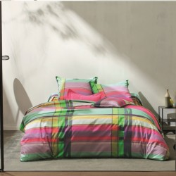 Parure de draps PANAMA Multicolore Blanc des Vosges