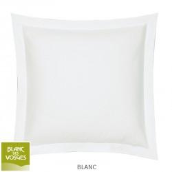 Taie d'oreiller unie Coton Blanc des Vosges