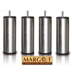 Jeux de 4 pieds cylindriques SAMOA en Inox - Margot