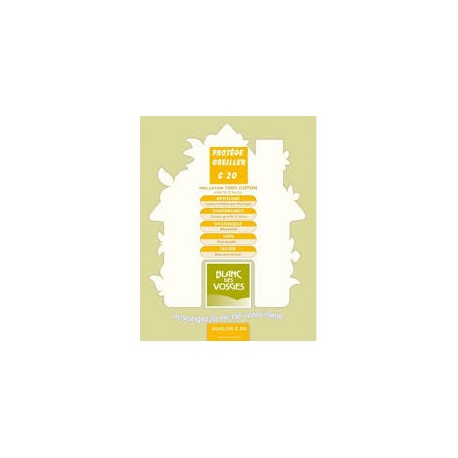 Protège oreiller Blanc des Vosges C 20