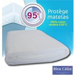 Protège matelas Lavable à 95° C Bleu calin