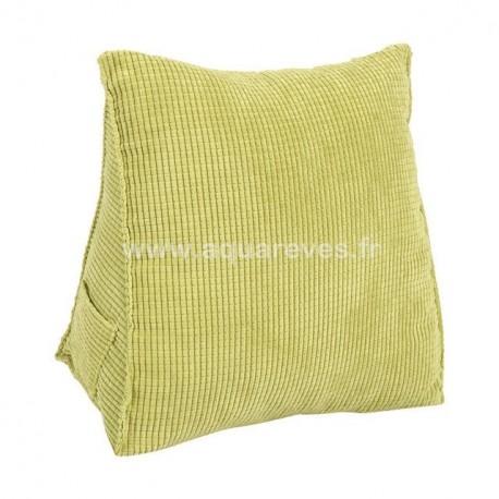 Mini oreiller de lecture coloris vert anis