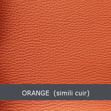 orange simili cuir