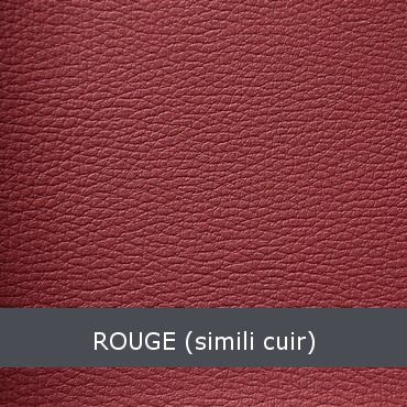 Rouge simili cuir